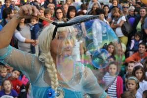 Elsa con bolle