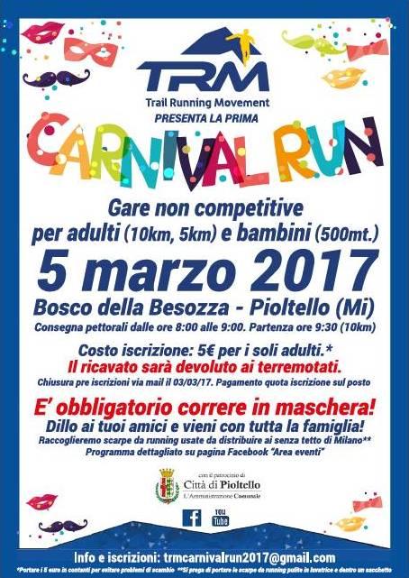 Prima edizione del Carnival Run!